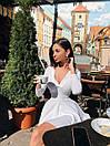 Платье из трикотажа рубчик с длинным рукавом и расклешенной юбкой солнце 71py1607, фото 7