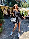 Платье из трикотажа рубчик с длинным рукавом и расклешенной юбкой солнце 71py1607, фото 8