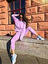 Женский спортивный костюм двойка с худи и зауженными штанами на манжетах (р. 42-46) 80so10812, фото 2