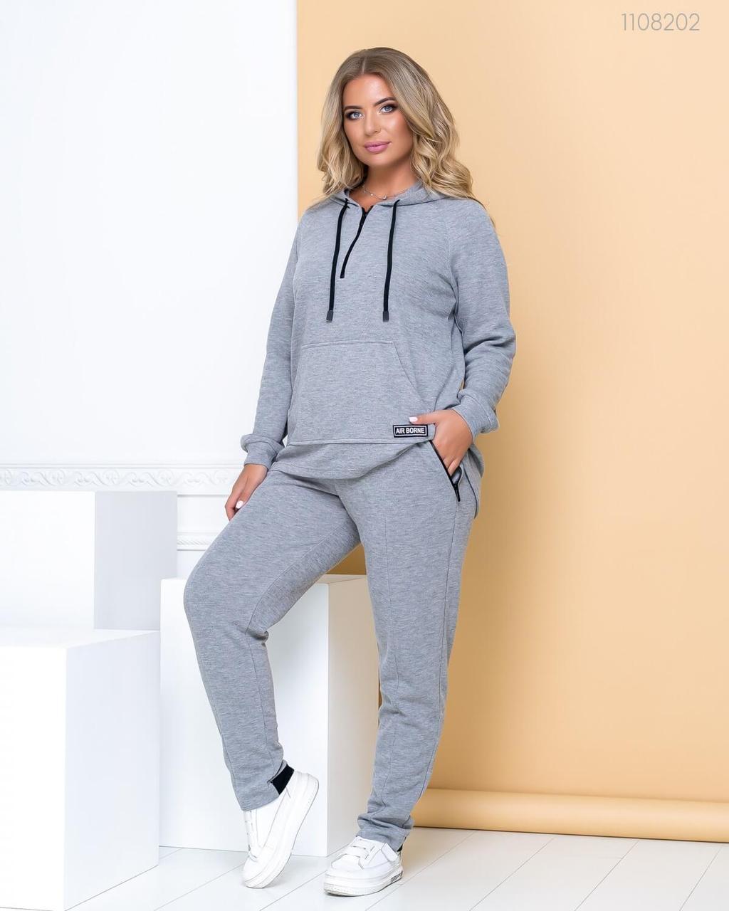 Женский спортивный костюм - брюки и худи A силуэта в больших размерах 83ba766