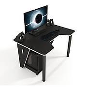 Геймерский стол ZEUS IVAR-1200  ,цвет  черный+белый