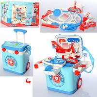Доктор детский стол-чемодан, музыка, свет, медицинские инструменты, L666-38