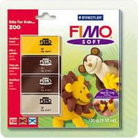 Набор для лепки FIMO Soft Zoo 4шт*25гр