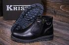 Ботинки мужские зимние  Kristan City Traffic Black |Ботинки мужские зимние кожаные | Ботинки мужские зима, фото 8