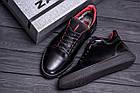 Мужские зимние кожаные ботинки ZG Black  Red Premium Quality | Ботинки мужские зимние | Обувь на зиму, фото 10