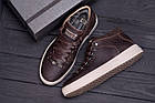 Мужские зимние кожаные ботинки ZG Chocolate Exclusive | Спортивные зимние ботинки | Ботинки мужские зима, фото 10