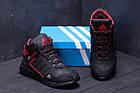 Зимние кроссовки мужские на меху | Зимнее кожаные ботинки мужские | Кроссовки зимние| Adidas TERREX Black, фото 7