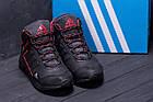 Зимние кроссовки мужские на меху | Зимнее кожаные ботинки мужские | Кроссовки зимние| Adidas TERREX Black, фото 8