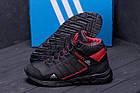 Зимние кроссовки мужские на меху | Зимнее кожаные ботинки мужские | Кроссовки зимние| Adidas TERREX Black, фото 9