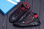 Зимние кроссовки мужские на меху | Зимнее кожаные ботинки мужские | Кроссовки зимние| Adidas TERREX Black, фото 10