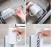 Щетка-ершик для мытья стаканов и бутылочек на присоске