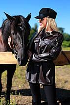Молодежная куртка-рубашка из эко-кожи рр 42-48, фото 3