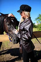 Молодежная куртка-рубашка из эко-кожи рр 42-48, фото 2