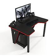 Геймерский стол ZEUS IVAR-1200 Red  ,цвет  черный+красный
