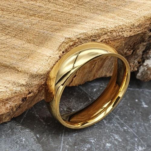 Обручальное кольцо из медицинской стали округлое классика 6 мм под гравировку 176296