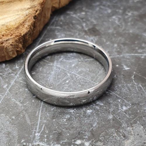 Обручальное кольцо из нержавеющей стали 5 мм под гравировку 176297