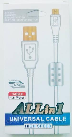 Кабель USB-micro USB с ферритовым фильтром