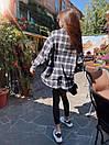 Женская клетчатая рубашка оверсайз из шерсти в едином размере 42-46 71bir405, фото 4