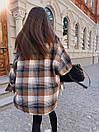 Женская клетчатая рубашка оверсайз из шерсти в едином размере 42-46 71bir405, фото 9