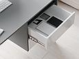 Письменный стол СП-8 с тумбой Антрацит/Белый, фото 3