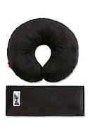 Комплект дорожный для сна Eternal Shield, подушка под шею  (черный)