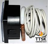 Термометр капиллярный квадратный 45х45 мм с выносным датчиком 1м, фото 3