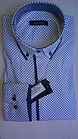 Элегантная Мужская рубашка DERGI приталенная с длинным рукавом  код 6177-2