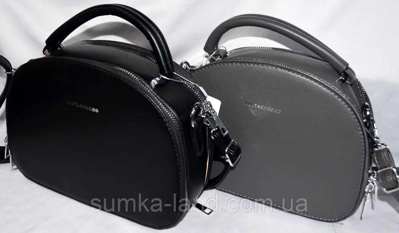 Женские молодежные клатчи, маленькие сумочки из искусственной кожи на 2 молнии (серый и черный)