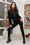 Женский вязанный спортивный костюм кофта гольф и штаны с высокой посадкой размер: 42-46, фото 5