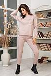 Женский вязанный спортивный костюм кофта гольф и штаны с высокой посадкой размер: 42-46, фото 7