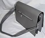 Женские молодежные клатчи, маленькие сумочки из искусственной кожи с клапаном 24*18 см (серый и синий), фото 3