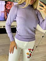Женский гольф из мелкой акриловой вязки в разных расцветках (р. 42-46) 22dmde896, фото 1