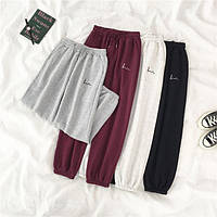 Женские спортивные штаны джоггеры на флисе с резинкой (р. единый 42-44) 68mbl532, фото 1