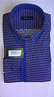 Элегантная Мужская рубашка DERGI приталенная с длинным рукавом  код 6178-2