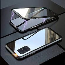 Магнитный чехол со стеклянной передней и задней панелью для Samsung Galaxy A51 (SM-A515FZKU)