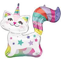 Гелієві куля фольга фігурки Кішка-единоріг 3207-2751