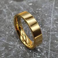 Парные обручальные кольца из медицинской стали американка 5 мм под гравировку, фото 1