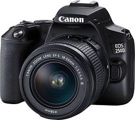 Фотоаппарат Canon EOS 250D + объектив Kit 18-55 DC III Black (3454C009)