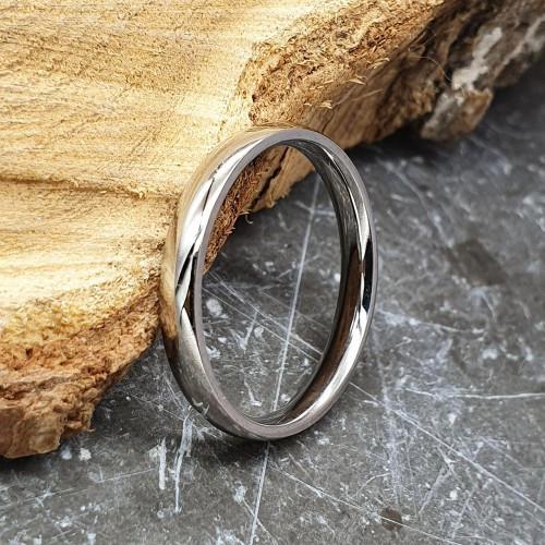Весільні кільця з медичної сталі 3 мм округле під гравіювання 176305