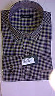 Элегантная Мужская рубашка DERGI приталенная с длинным рукавом  код 6244-2