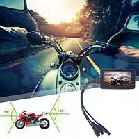 Видеорегистратор для мотоцикла с двумя камерами Leshp HD 720P