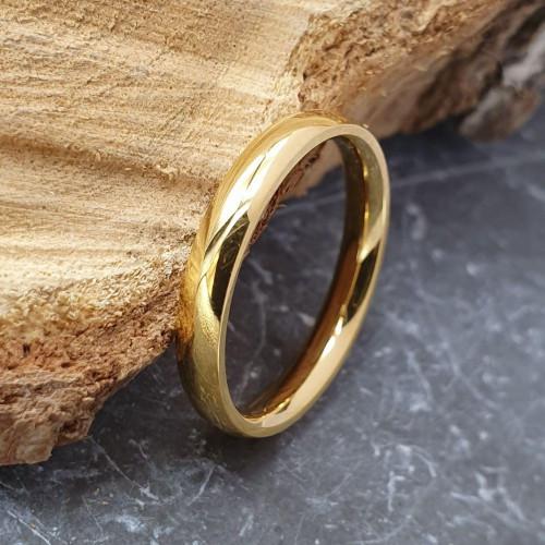 Свадебные кольца из медицинской стали 3 мм под золото для гравировки 176306