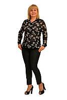 """Блуза """"Вита"""" —  Модель 1276-1 (замена ткани, как под фото)"""