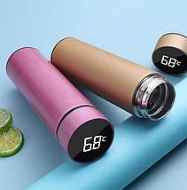 Термос с LED индикатором температуры, сенсорный, 500 ml Premium, Нержавеющая сталь, фото 3