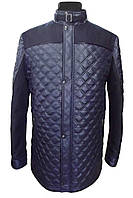 Куртка мужская стеганая № 68з - плащ. стег. синяя+кашемир