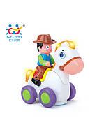 """Игрушка машинка Huile Toys """"Ковбой на веселой лошади"""", музыкальная лошадка"""