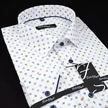 Сорочка чоловіча, прямого покрою з довгим рукавом Fabrik Style T2496V4 100% бавовна 43(Р)