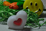 Декоративное мыло Белое сердце 90 грамм