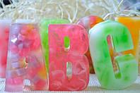 Подарочное мыло Буквы большие в ассортименте 120 грамм