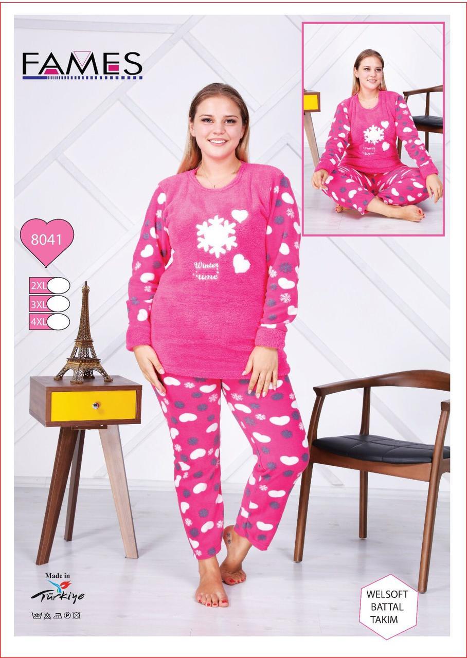 Пижама женская большого размера cердечки